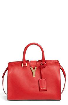 Saint Laurent Y Ligne Cuir Gras Mini Bag, Red