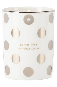 Kate Spade Be The Star of Your Story Candle, silver dot