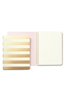 kate spade new york 'gold stripe' spiral notebook