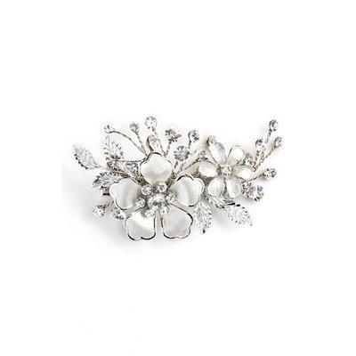 Wedding Belles New York 'Emma' Crystal Hair Clip - Metallic