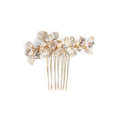 Wedding Belles New York 'Petite Garden' Crystal Hair Comb - Metallic
