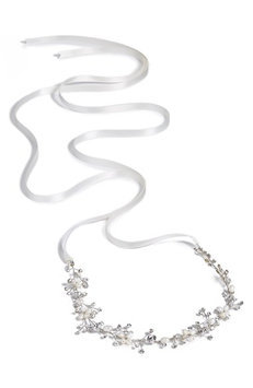 Wedding Belles New York 'Brianne' Head Wrap - Metallic