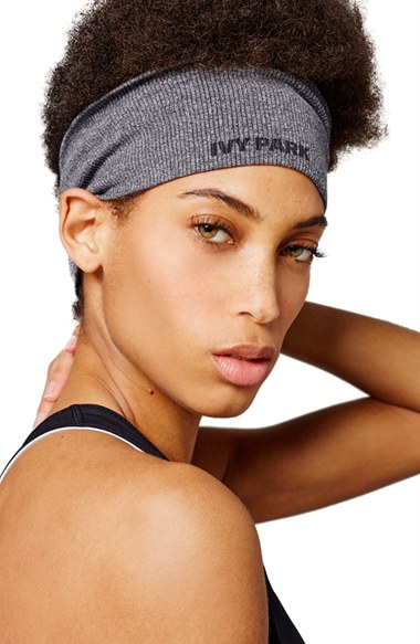 IVY PARK Seamless Ribbed Wide Headband - Grey