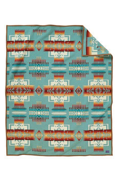Pendleton Chief Joseph Blanket Aqua, One Size