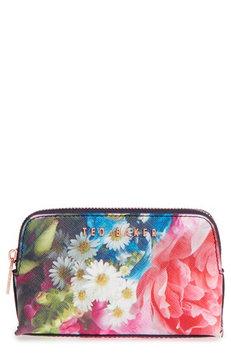 Ted Baker Allis Focus Bouquet Wash Bag, Light Blue
