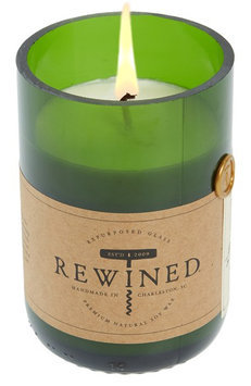 Rewined Recycled Wine Bottle 60-80 Hour Soy Wax Candle - Spiked Cider