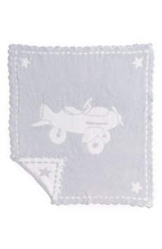 Barefoot Dreams Scallop Cozychic Baby Receiving Blanket Blue