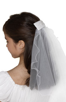 Us Angels - Clip with Veil (Little Kids/Big Kids) (White) Hair Accessories