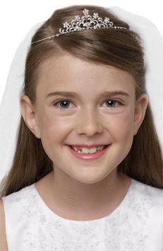 Us Angels - Crystal Tiara w/ Separate Veil (Little Kids/Big Kids) (White) Hair Accessories