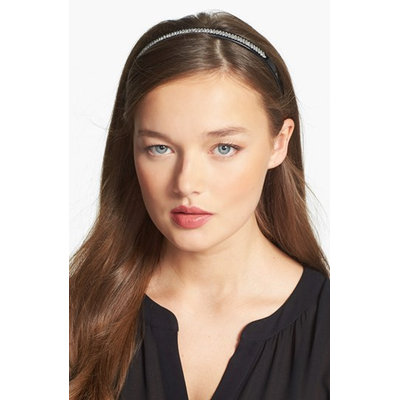 France Luxe Baronessa Crystal Headband - Black
