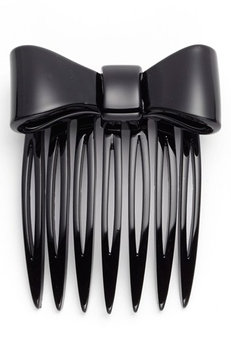 France Luxe Adore A Bow Mini Comb - Black
