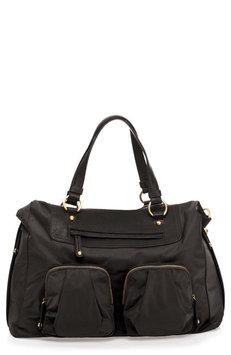 TWELVElittle Allure Convertible Satchel Diaper Bag in Black
