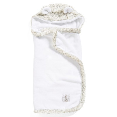 Little Giraffe Luxe Snow Leopard Hooded Towel
