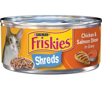 Friskies® Chicken & Salmon Dinner in Gravy Savory Shreds Wet Cat Food