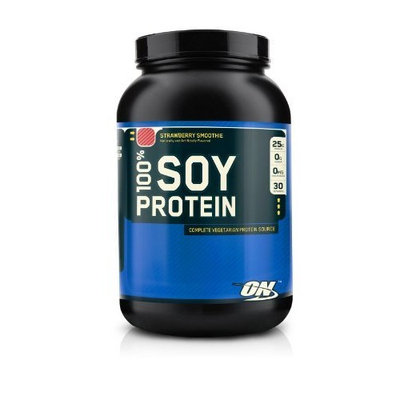Optimum Nutrition 100% Soy Protein, Strawberry Smoothie, 2 Pound (Pack of 2)