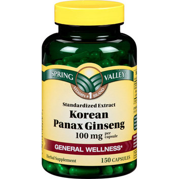 Spring Valley Energy Support Korean Ginseng 100 mg 150 ct