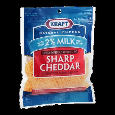 Kraft Reduced Fat Shredded Cheese Sharp Cheddar
