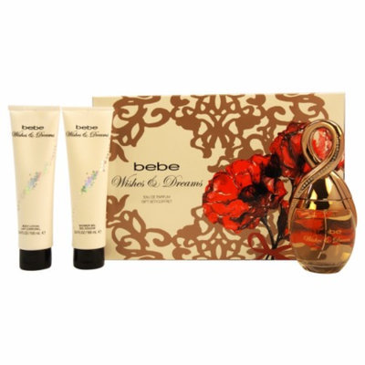 Bebe Wishes & Dreams Gift Set for Women, 3 Piece, 1 set