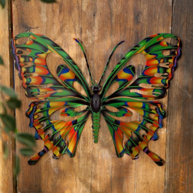 Next Innovations Outdoor Wall Art: RefraXions 3D Butterfly: Blue and Black (Large)