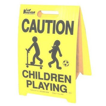 KidKushion Caution Children Playing Signs - 2 Pack