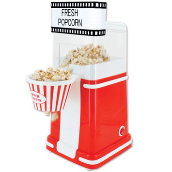 Smart Planet Old Time Movie Theatre Themed Personal Hot Air Popper Popcorn Maker For Home