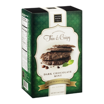 Salem Baking Co. Delightfully Thin & Crispy Cookies Dark Chocolate Mint