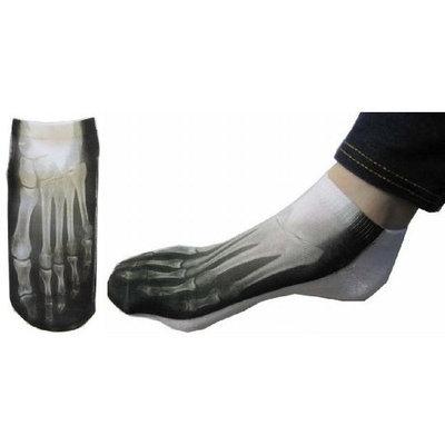 Grimmway Farms X-ray Skeleton Bone Ankle Socks Photo Print Style