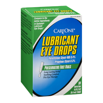 CareOne Lubricant Eye Drops Vials - 30 CT
