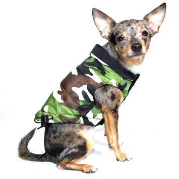 Hip Doggie Inc Hip Doggie Reversible Puffer Vest - Black/Camo, Big Dog XS