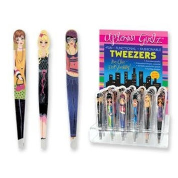 DDI Uptown Girlz Tweezers - A Girl Painted On Each One! (Sold Individually)