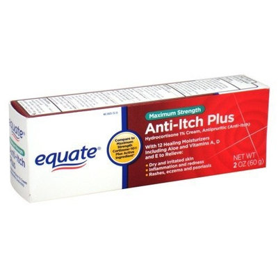 Equate - Anti-Itch Plus Cream, Hydrocortisone 1%, Maximum Strength, 2 oz (Compare to Cortizone-10).