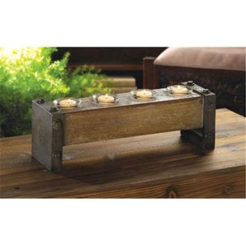 Zingz & Thingz 57071149 Medieval Wooden Candle Stand