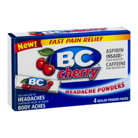 BC Headache Powders Cherry - 4 CT