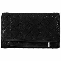 SEPHORA COLLECTION Quilted Bag Collection - Black Small Hanging Travel Case 10 x 3 x 6