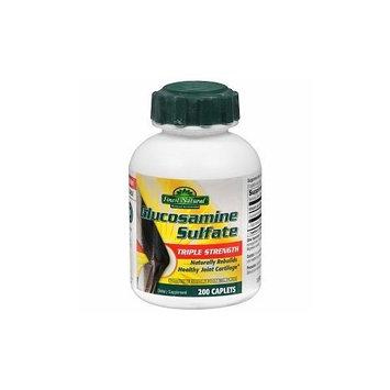 Finest Natural Glucosamine Sulfate Triple Strength Caplets, 200 ea