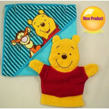Regent baby Product Disney Baby Winnie the Pooh Hooded Towel & Wash Mitt set