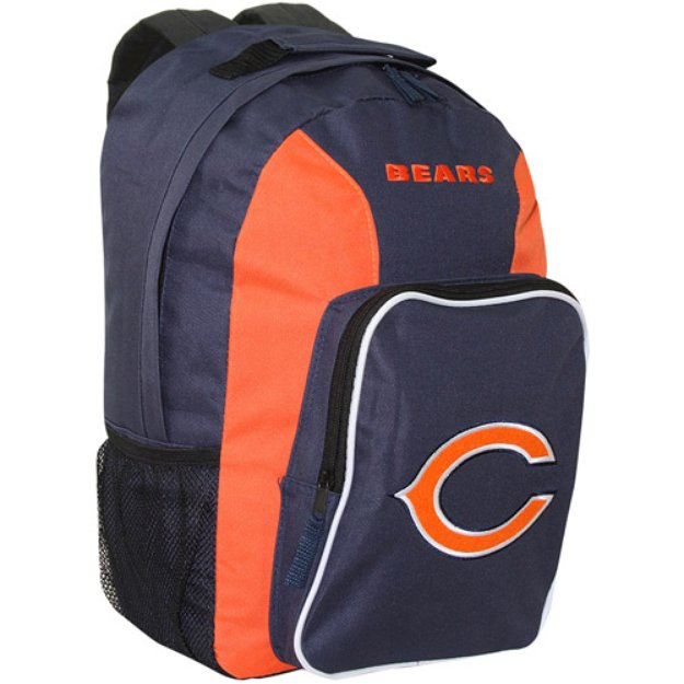 Concept One NFL Chicago Bears Southpaw Team Color Backpack - School Supplies