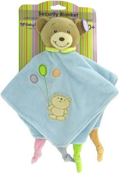 Baby Bow Teddy Bear Rattle Blanket in Blue by Russ