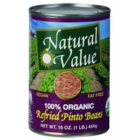 Natural Value Organic Refried Pinto Beans, 16 Ounce Cans (Pack of 12)