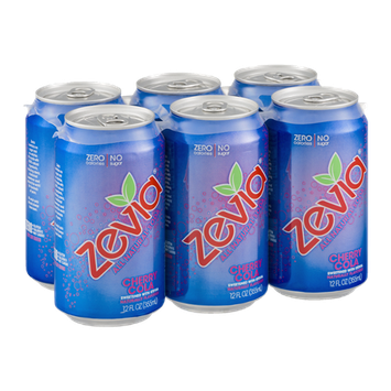 Zevia Zero Calorie Soda Cherry Cola - 6 CT