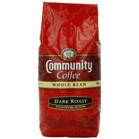 Community Coffee Whole Bean Coffee, Dark Roast, 12-Ounce Bags (Pack of 3)