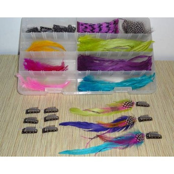 Jewelry Locks Feather Hair Extensions DIY Kit
