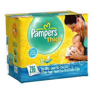 Pampers® Thickcare Wipes Size 3