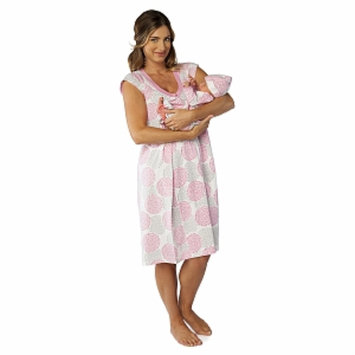 Baby Be Mine Lilly Nursing NightGown with Romper, Medium, 1 ea