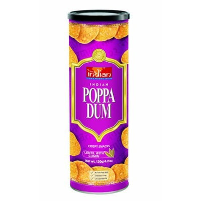 Truly Indian Cumin Poppadums, 4.2-Ounce Cans (Pack of 6)
