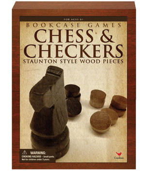 Cardinal Industries, Inc. Cardinal Ind Toys Chess & Checkers Bookshelf Game