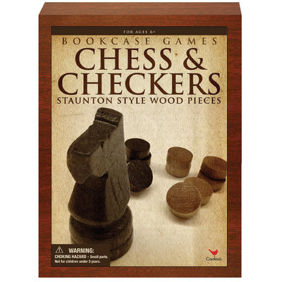 Cardinal Industries, Inc. Cardinal Ind Toys Chess & Checkers Bookshelf Game