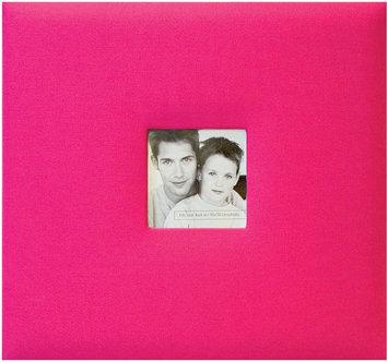 Mbi MBI Fashion Fabric Postbound 12x12 Scrapbook Album - Hot Pink