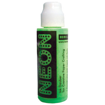 Crown Marking Equipment Co. Hero Arts Neon 1 Ounce Daubers-Neon Green