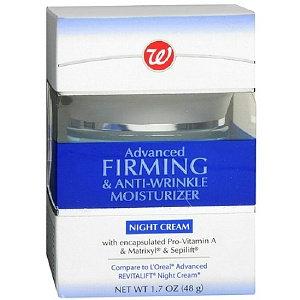 Walgreens Advanced Firming & Anti-Wrinkle Moisturizer Night Cream